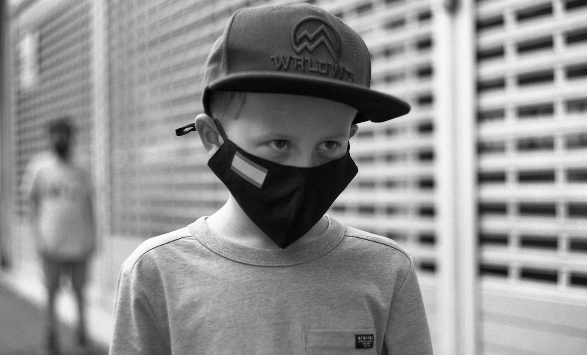 Street photo portrait - two boys